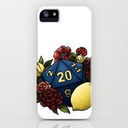 Marsala Lemon D20 Tabletop RPG Gaming Dice iPhone Case
