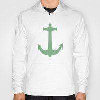 anchors Hoodies featuring Anchors Away! by Carissa W.
