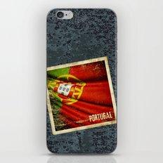 Portugal grunge sticker flag iPhone & iPod Skin