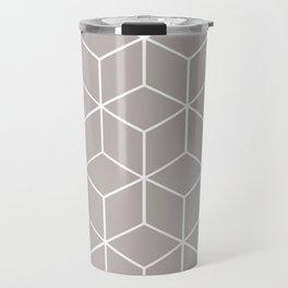 Cube Geometric 03 Grey Travel Mug