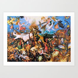 Pieter Bruegel - The Fall Of The Rebel Angels - Digital Remastered Edition Art Print
