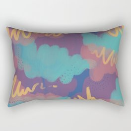 Golden gable Rectangular Pillow