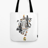 ronaldo Tote Bags featuring Football Legends: Cristiano Ronaldo by Akyanyme