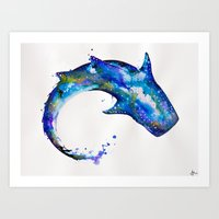 celestial Art Prints featuring Celestial  by Marc Allante