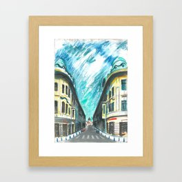 Mirror street Framed Art Print