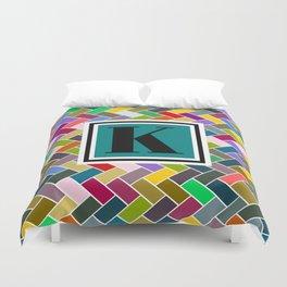 K Monogram Duvet Cover