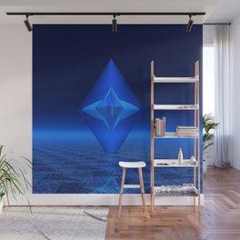 Blue Crystal Abstract Wall Mural