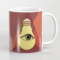 "illuminati Mugs featuring ""Illuminati"" bulb by Oh! My darlink"