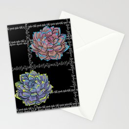 'Not Your Babe' tartan succulent print Stationery Cards