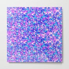 Modern pink navy blue teal abstract stars pattern Metal Print