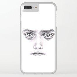 Sad child Clear iPhone Case