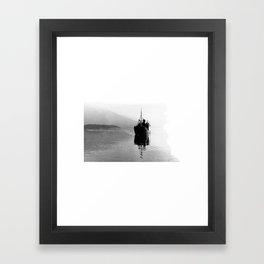 Fjord ship Framed Art Print