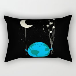 Under the moon and stars Rectangular Pillow