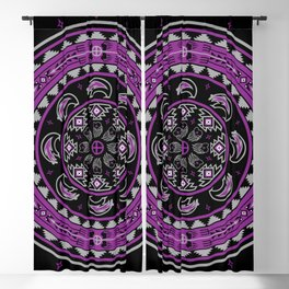 Bear Spirit (Purple) Blackout Curtain