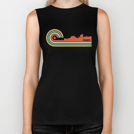 Retro Fairmont West Virginia Skyline Biker Tank