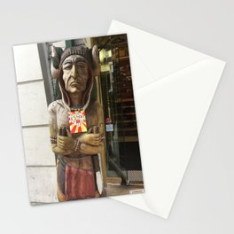 Chief woodenhead Stationery Cards