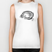 clockwork Biker Tanks featuring clockwork fish by vasodelirium