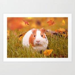 Autumn Cutie Art Print