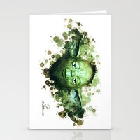 yoda Stationery Cards featuring Yoda by Rene Alberto