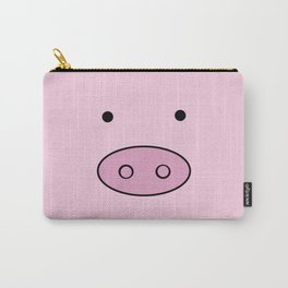 Little Piggy (Pig Face, Pig Nose) - Pink Black  Carry-All Pouch