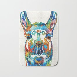 Colorful Llama Art - The Prince - By Sharon Cummings Bath Mat