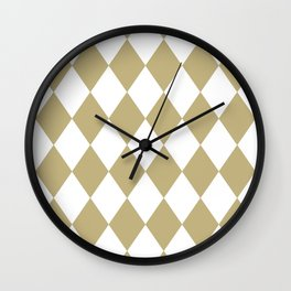Diamonds (Sand/White) Wall Clock