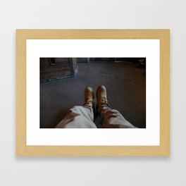 Reliable travel Framed Art Print