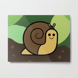 Cutesy Crawlies — Snail Metal Print
