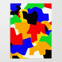 Cartoonish Wall of Colors Poster