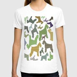 schnauzer pattern T-shirt