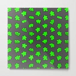 Green Game Meeples Metal Print