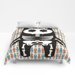 Meow Skeleton Comforters