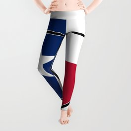 Texas Flag In An Interstate Sign Leggings