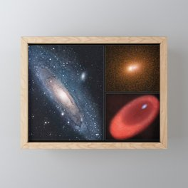 Hubble Space Telescope - The Core of the Andromeda Galaxy (2005) Framed Mini Art Print
