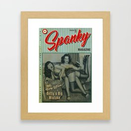Poster of spoof retro magazine cover 'Spanky' Framed Art Print