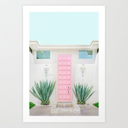 The Pink Door, Palm Springs, California Art Print