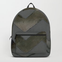 Chevrons — Gray and Gold Backpack