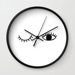 Eye wink Wall Clock