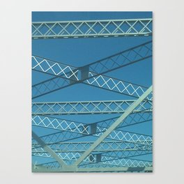 Old Tappan Zee Bridge over the Hudson River in Tarrytown New York Canvas Print