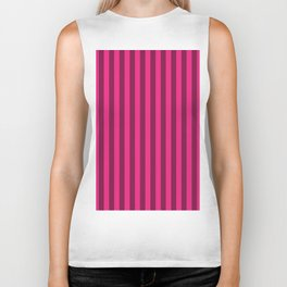 Rose Pink Stripes Pattern Biker Tank