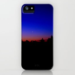 Moon at Dusk iPhone Case