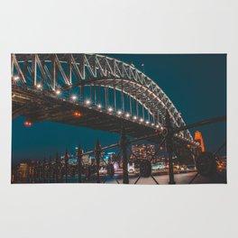 Blue Hour Harbour Bridge - Sydney Rug