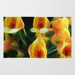 Yellow Flowers Scoop Petals Rug