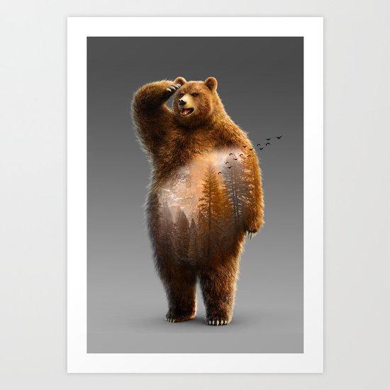 Bear X Art Print
