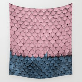 SHELTER / rose and light blue Wall Tapestry