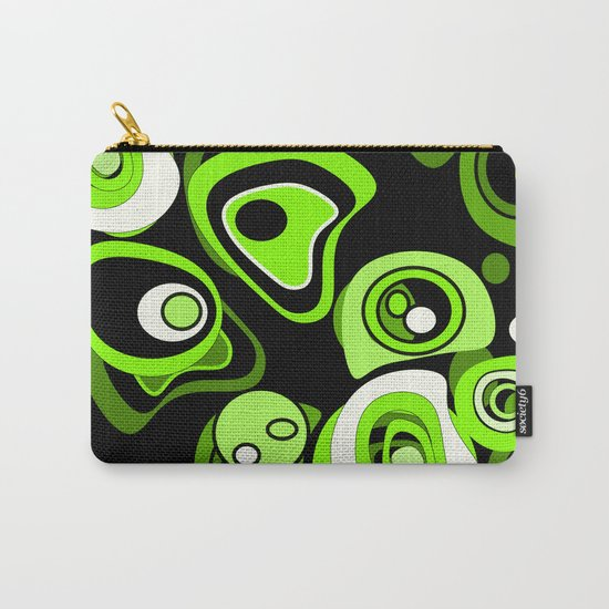 Abstract pattern black and green background . Carry-All Pouch