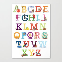 A to Z for Baby Canvas Print