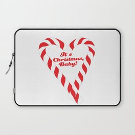 Candy Cane - It's Christmas, Baby! #xmas #christmas #minimal #love #design Laptop Sleeve