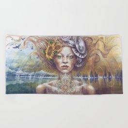 Harmonic Transformation by AutumnmSkyeART Beach Towel