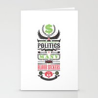 politics Stationery Cards featuring Politics = Many Blood Suckers by Wharton